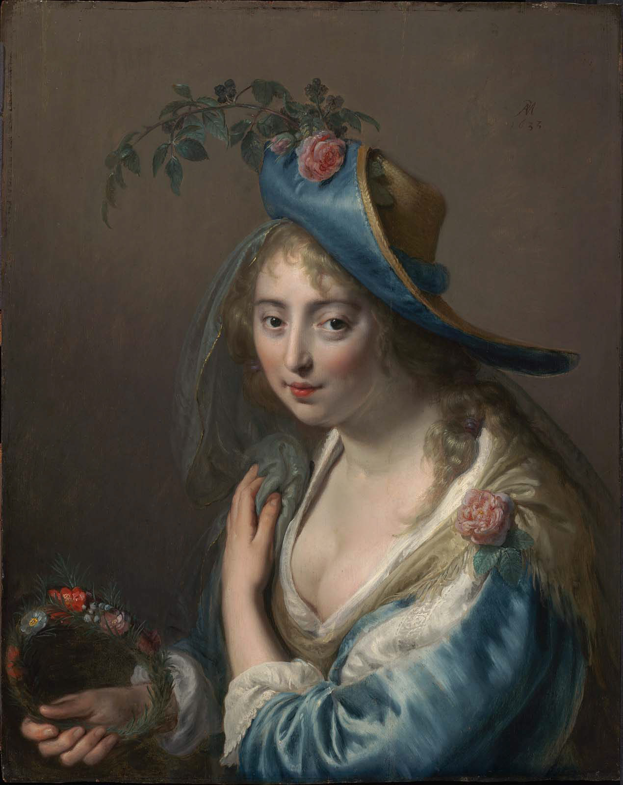 Portrait of a Young Woman as Flora