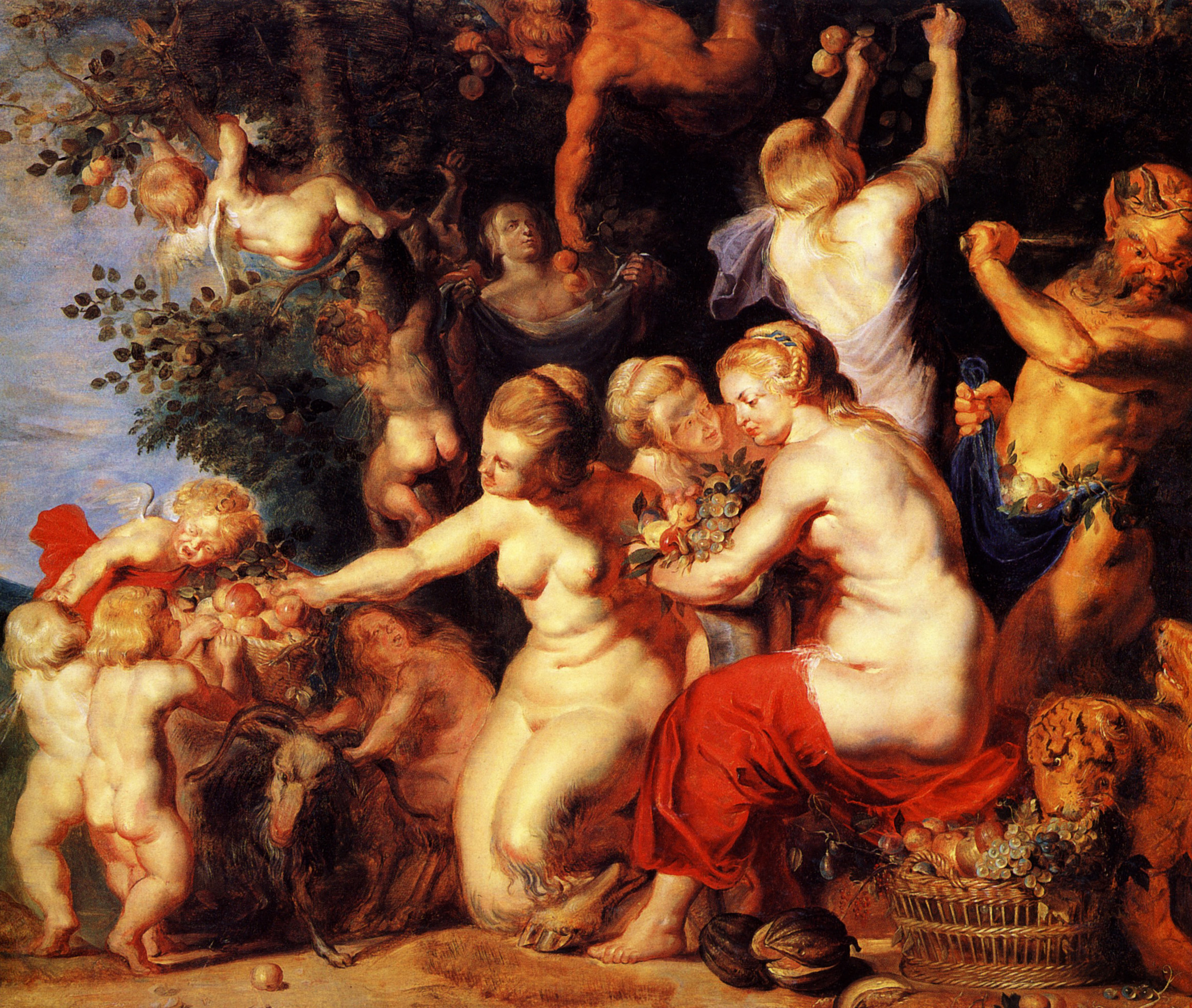 Nymphs and Satyrs: An Allegory of Fruitfulness