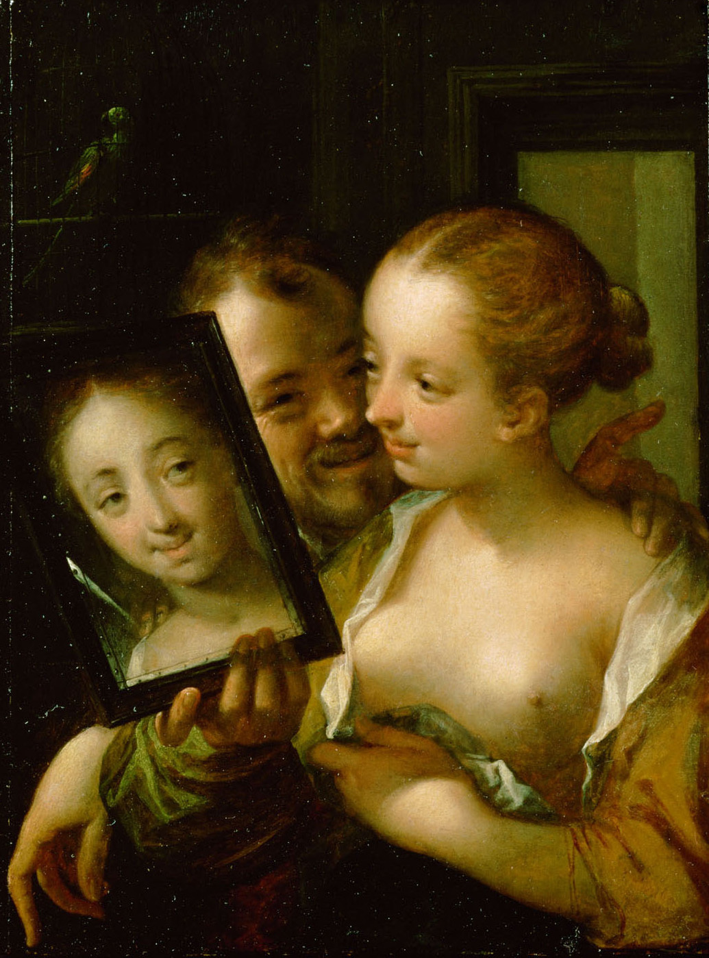 A couple with mirror