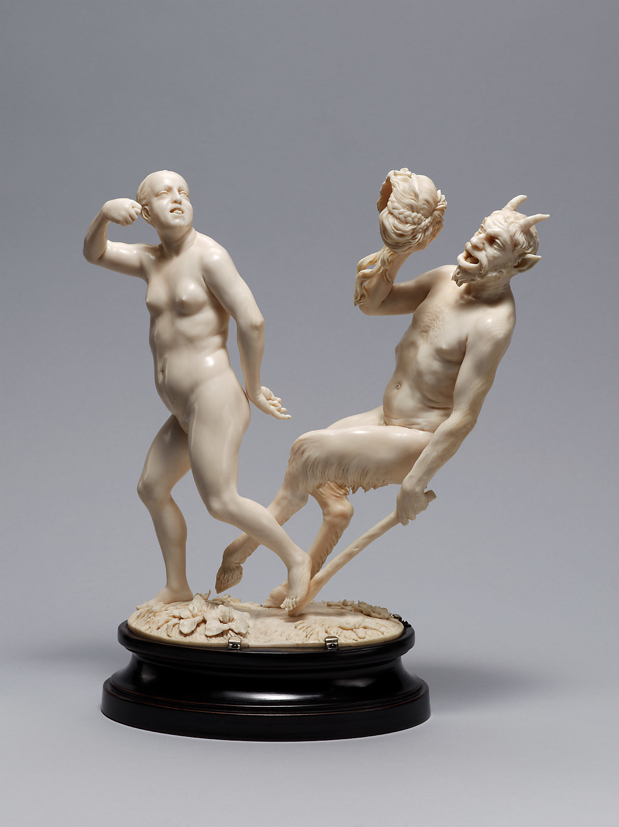 Nymphe Corisca with Satyr